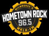 WKLH FM Milwaukee's Hometown Rock 96.5 logo