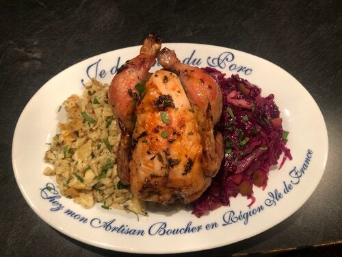 More Info for Food Friday: Roasted Cornish Hen with Spaetzel and Rotkohl